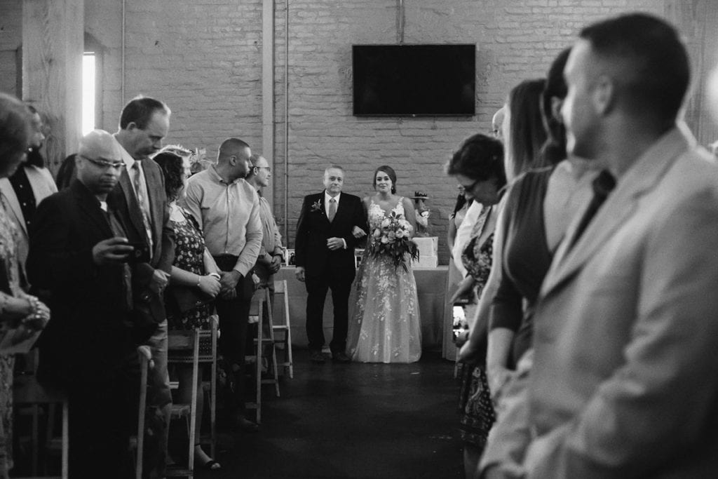 manchester music hall wedding aisle