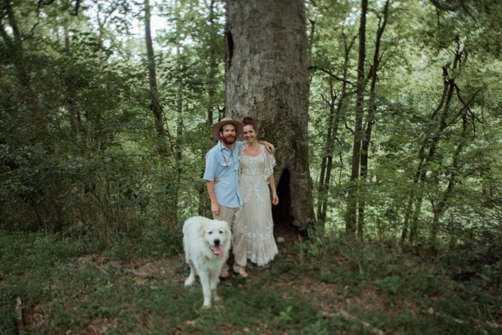 bellaire blooms flower farm wedding portrait with great pyranees