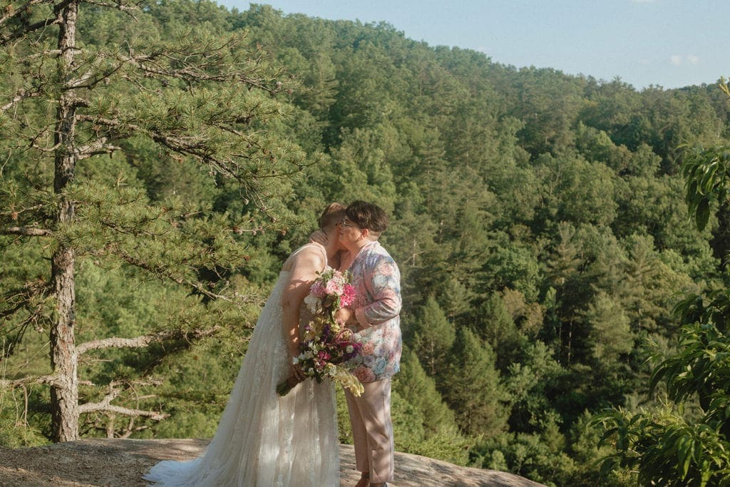 queer wedding ceremony at red river gorge