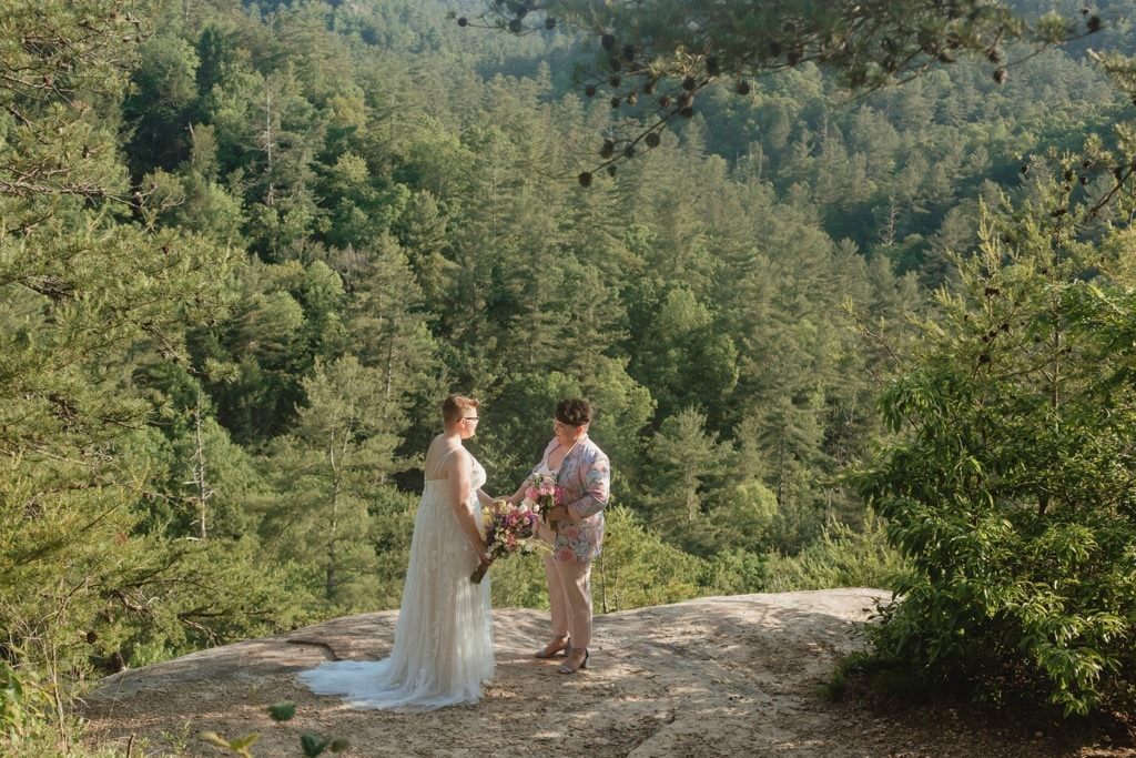 queer lesbian wedding at red river gorge