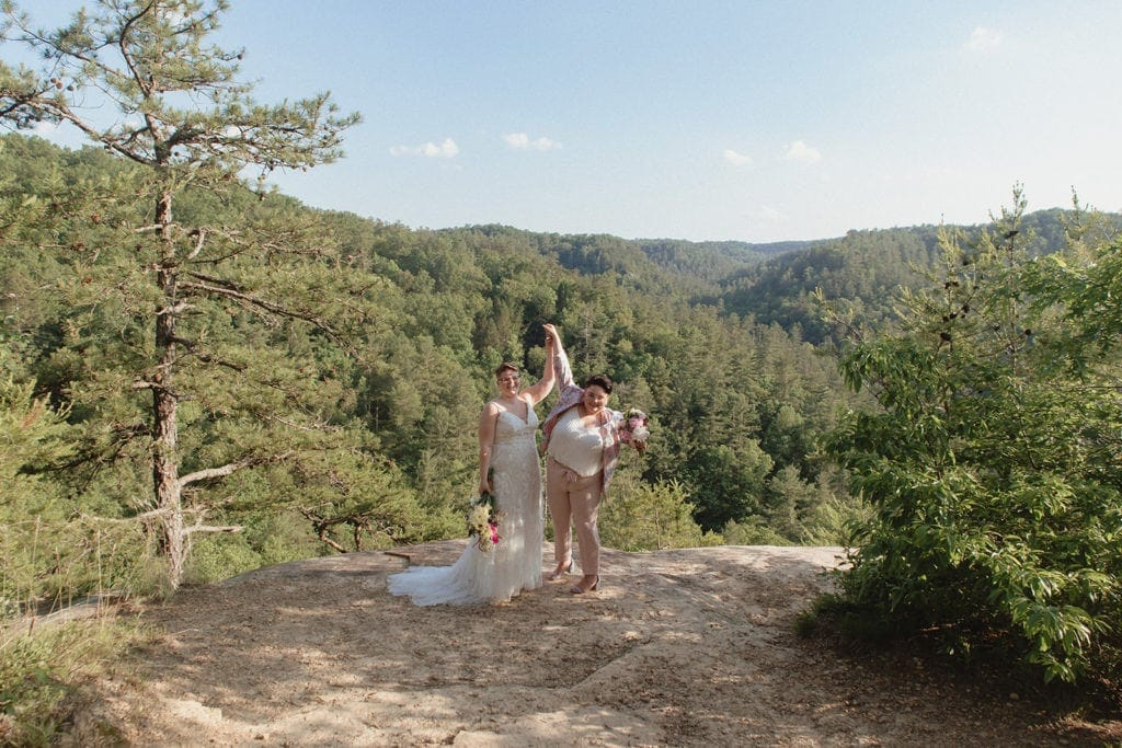 queer wedding elopement at red river gorge kentucky