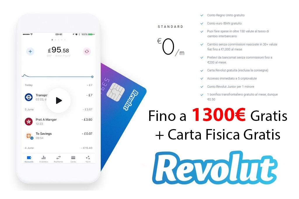Revolut 1300 Euro