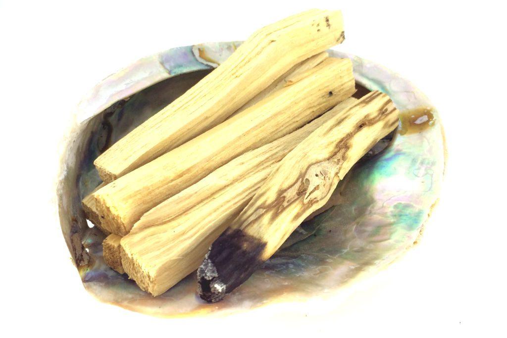 Spiral Crystals Palo Santo Smudge Stick