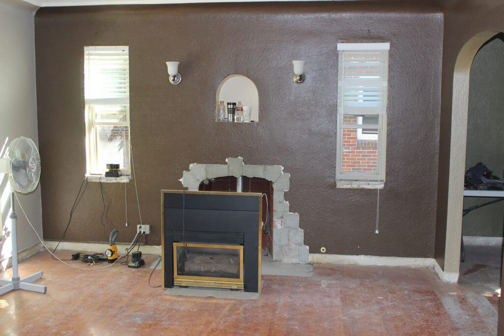 Denver Whole House Remodel Fireplace Before