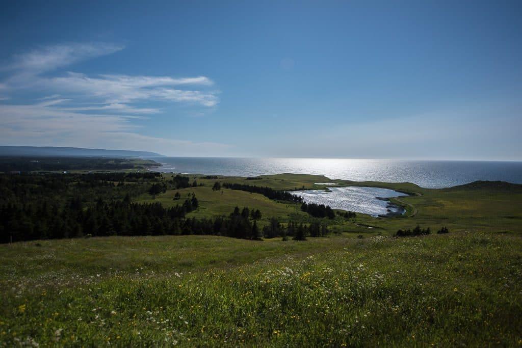 Heart shaped lake in Newfoundland
