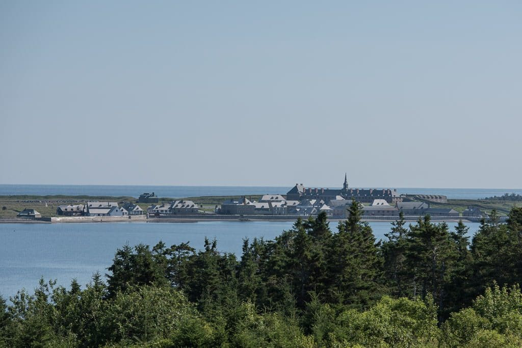 Looking towards Fortress of Louisbourg from off in the distance