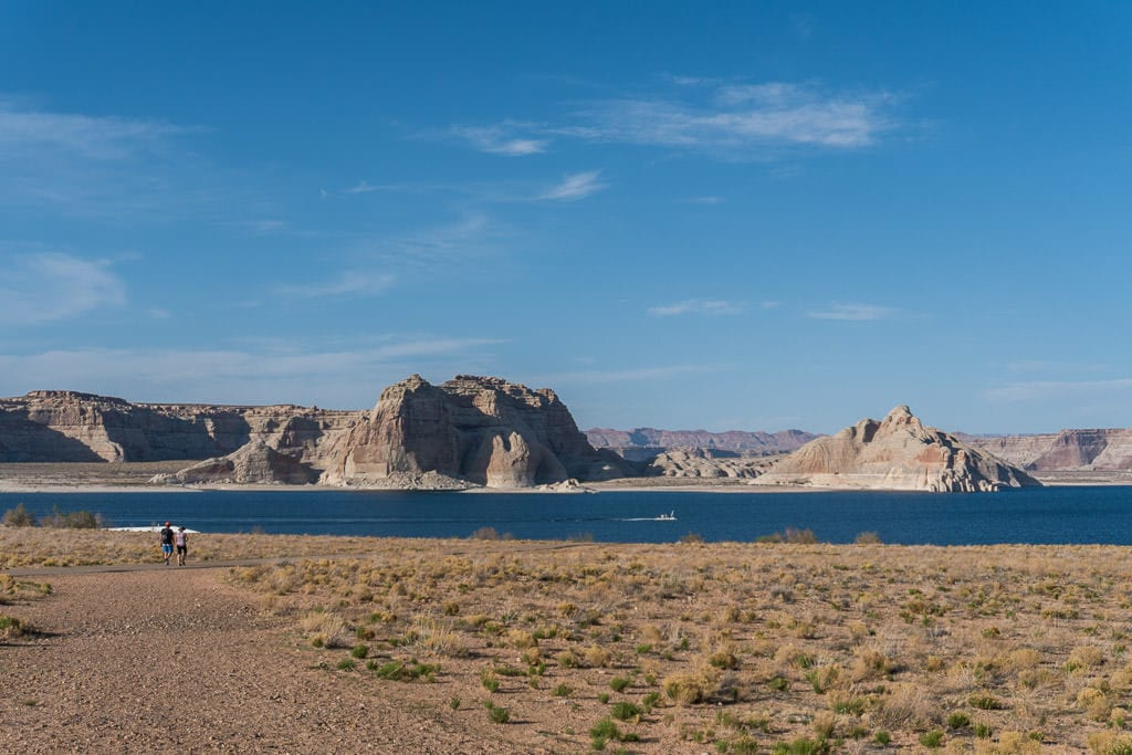View of Lake Powell from a trail at Lake Powell Resort
