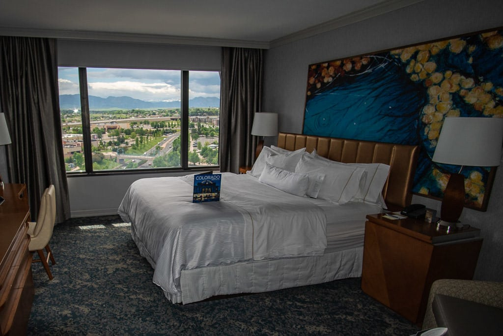 Our room with mountain views at the Westin