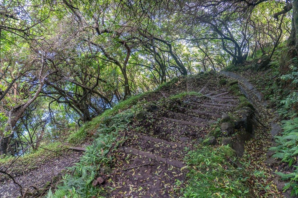 steep trail to Kalaupapa in Molokai