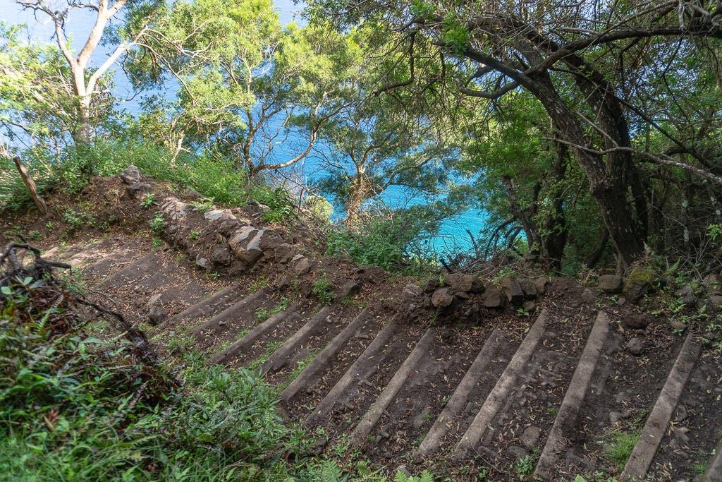 Hiking trail to Kalaupapa Molokai