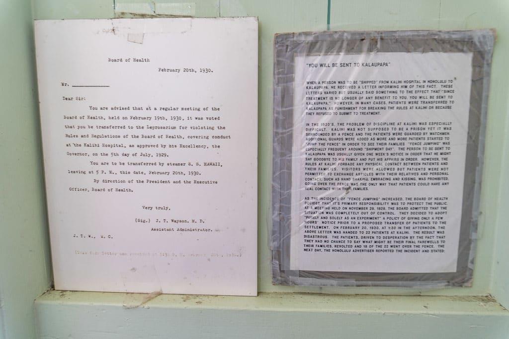 letter from original colony inhabitants at Kalaupapa, Molokai