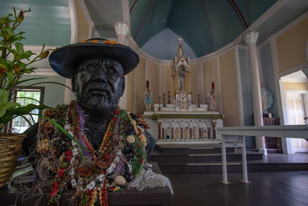 father damien in church at kalaupapa