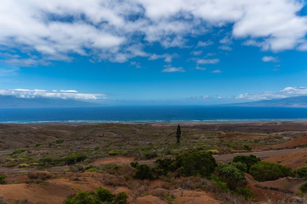 ocean views on day trip to lanai