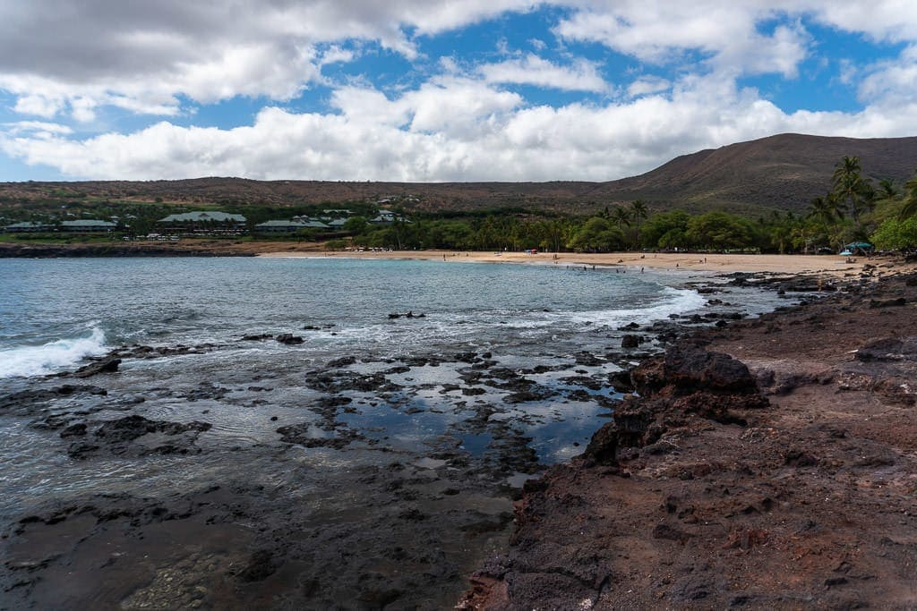 beach visit and picnic on a day trip to lanai