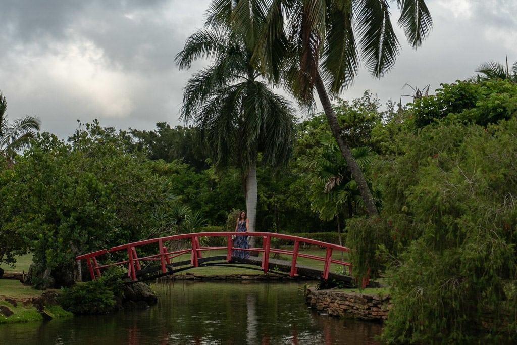 bridge and scenery at smith's family luau in Kauai
