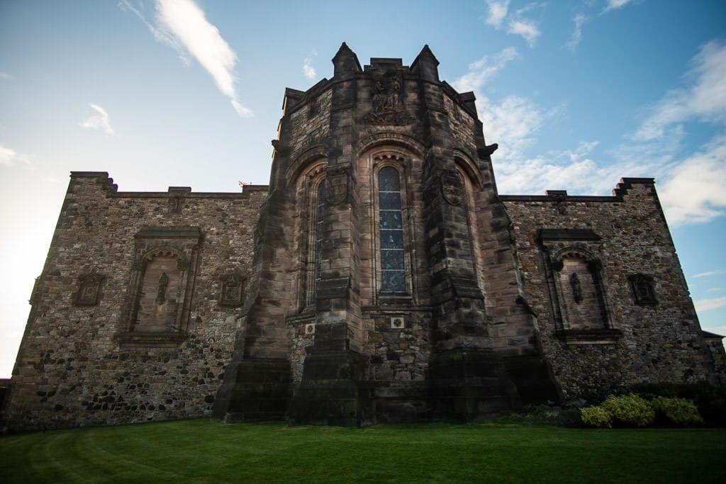 outside of Edinburgh Scotland castle