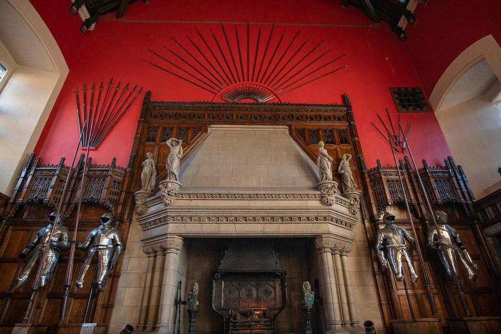 armor display inside Edinburgh Scotland castle