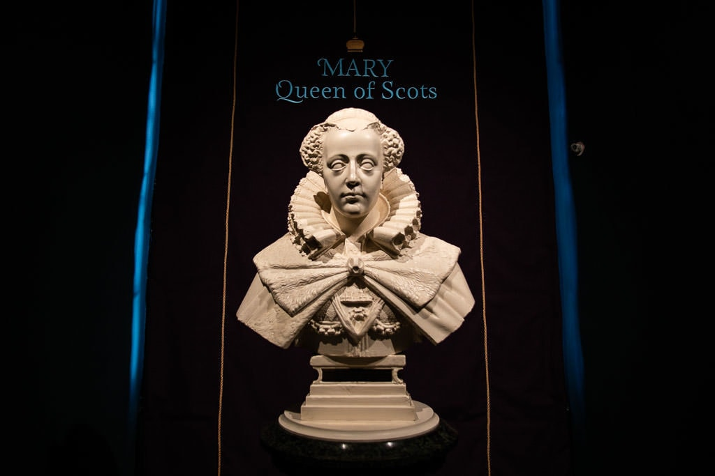 mary queen of scots bust in Edinburgh Scotland castle