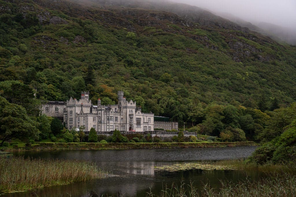 Kylemore Abbey from across the lake before you enter the property grounds