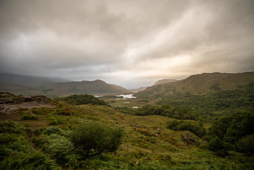 Stunning landscape at Killarney National Park on a cloudy day