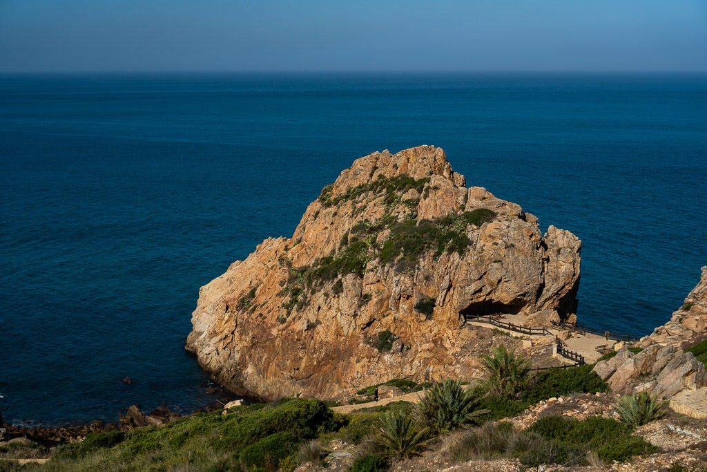 views of strait of gibraltar in tangier on day trip to Morocco