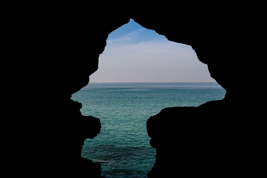hercules cave views to strait of gibraltar in tangier on day trip to Morocco