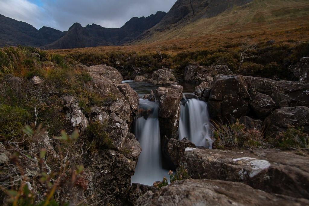 waterfall at Fairy Pools in Isle of Skye