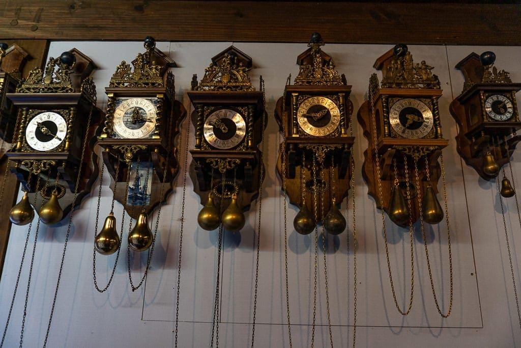clocks at clock museum on zaanse shans day trip