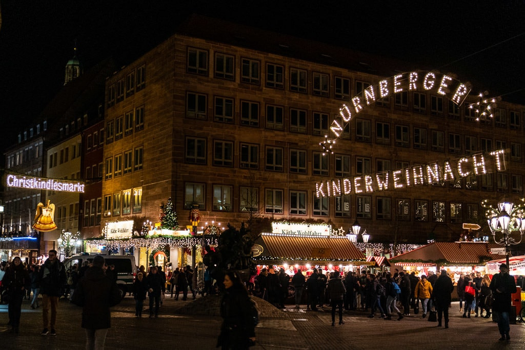 Nuremberg kinderweihnacht christmas market in germany