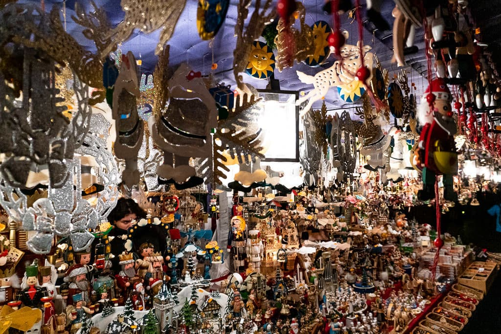 souvenirs at Nuremberg christmas market in germany