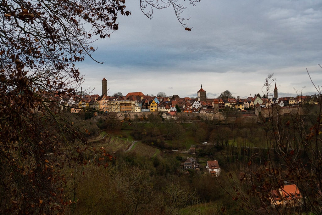 city views of rothenburg from countryside