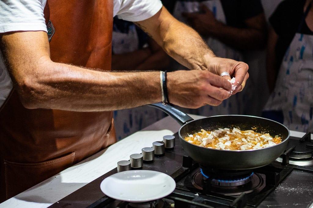 petra kouzina greek cooking class santorini