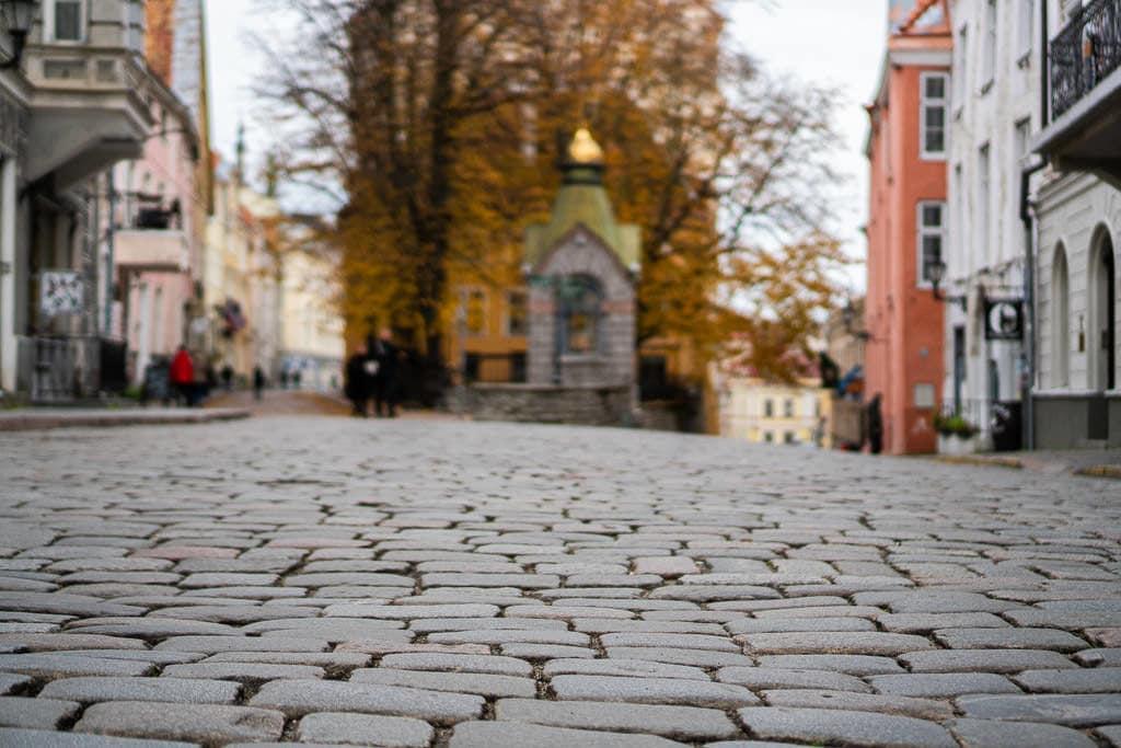 Tallinn City View of Cobblestone Streets