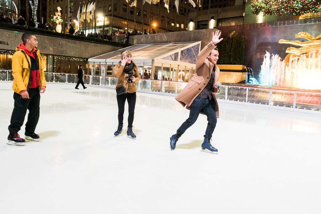 Photo 15 Engagement on Ice - The Rink at Rockefeller Center secret proposal. | VladLeto