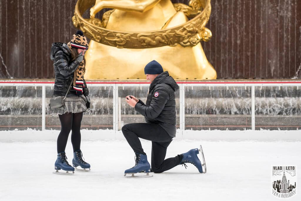 Photo 3 Ice Skating Marriage Proposal at The Rink at Rockefeller Center | VladLeto