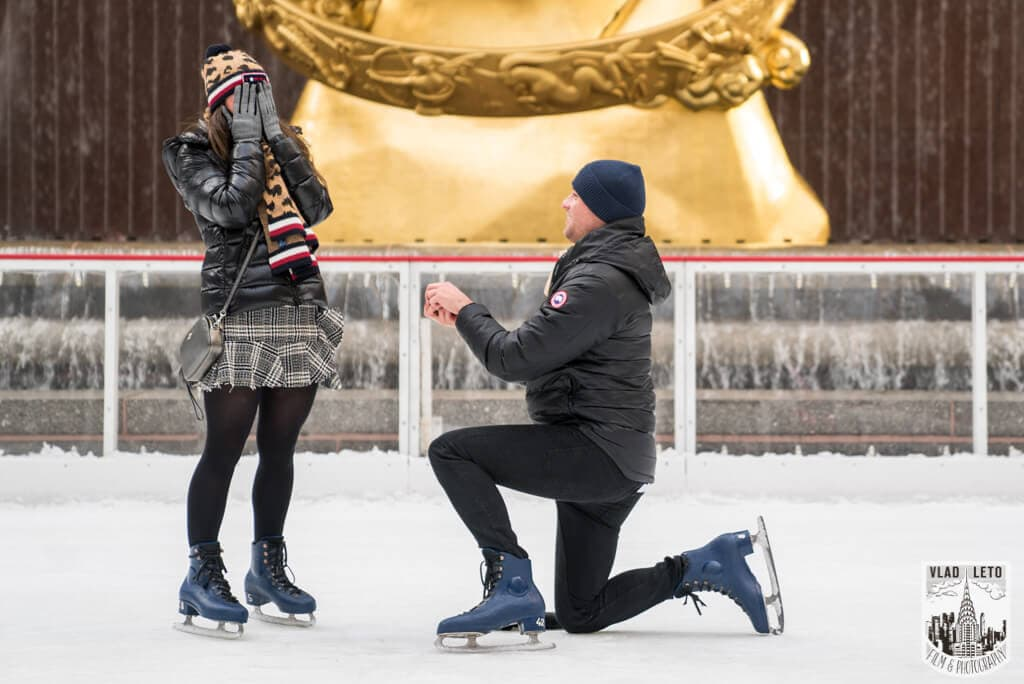 Photo 5 Ice Skating Marriage Proposal at The Rink at Rockefeller Center | VladLeto