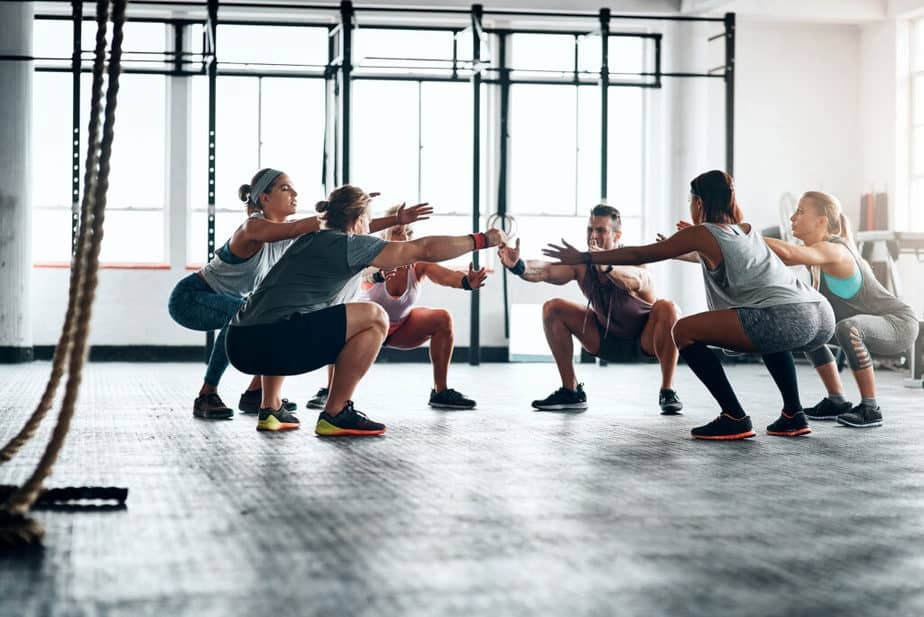 Small Group Training - training at the gym.