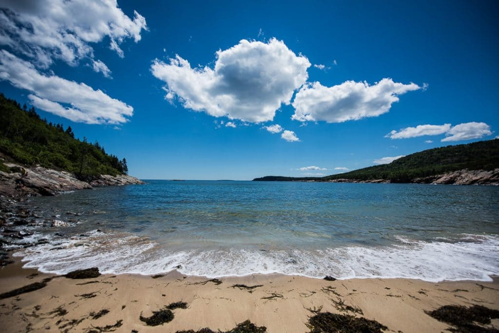 San Beach in Acadia National Park, the beach where the Great Head Trail hike starts