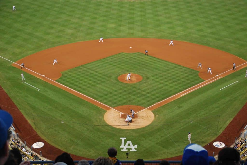 Spielszene im Dodger Stadium