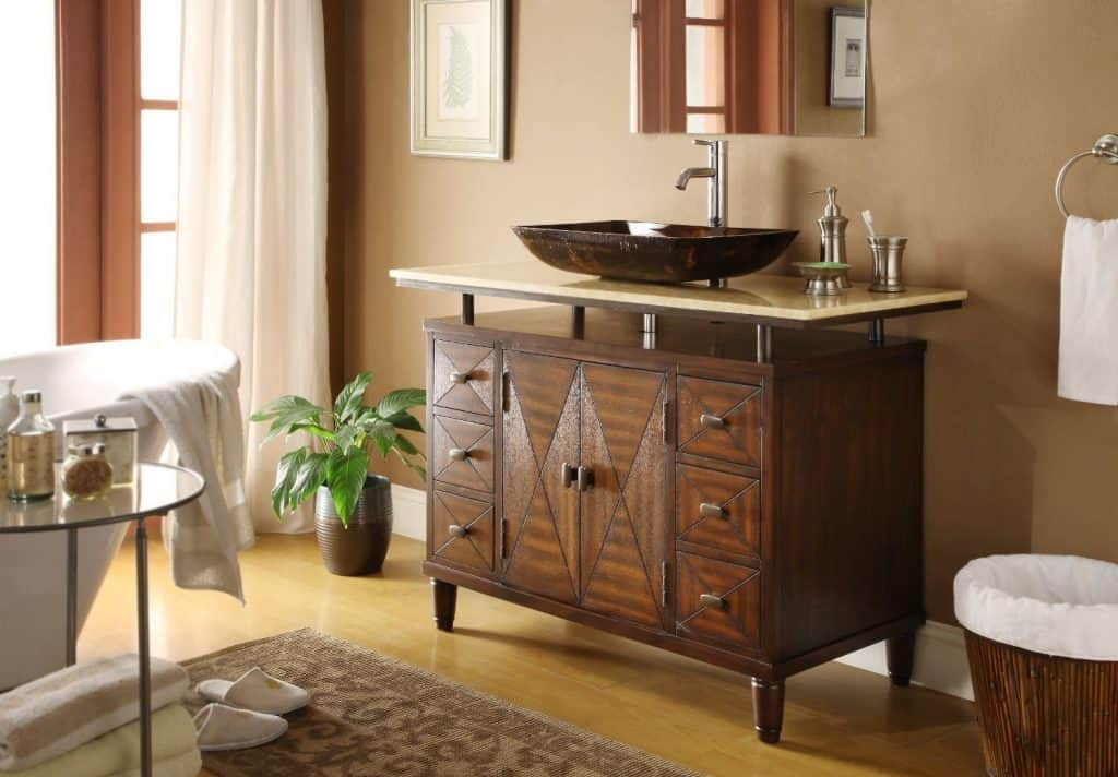 Verdana Vessel Sink Bathroom Vanity - Faucet & vessel all inclusive Q136-8X