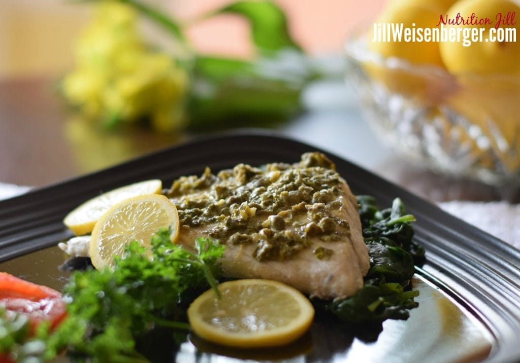quick healthy fish recipe to follow a Mediterranean Diet