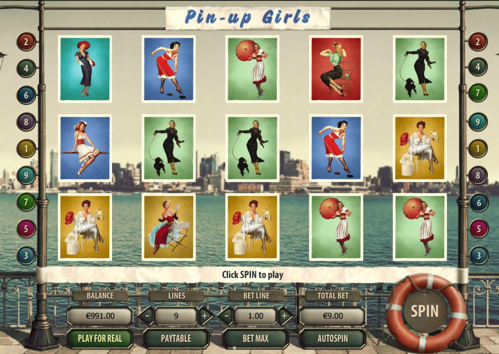 Pinup girls slot machine
