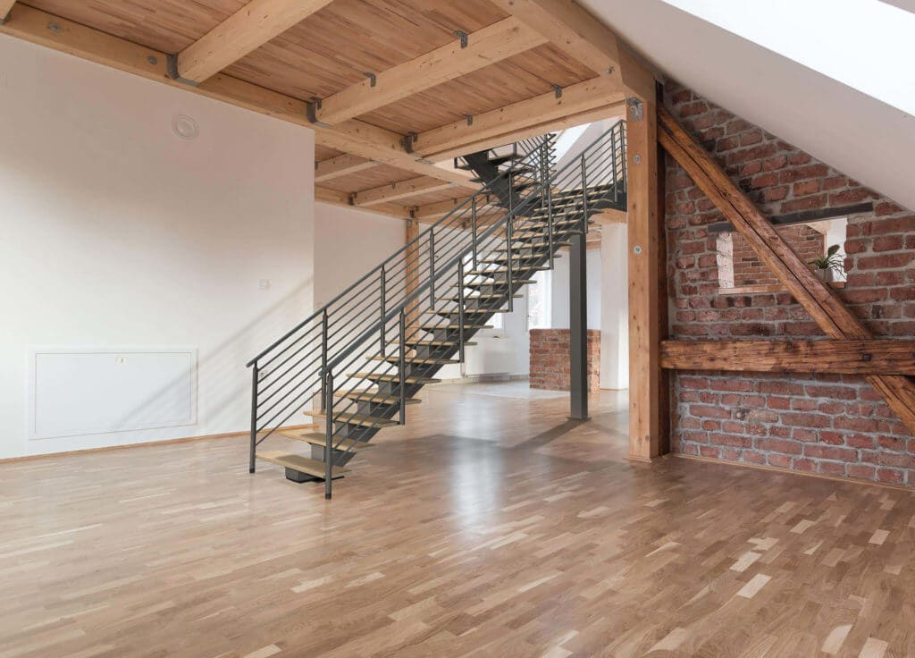 Wood and Metal Architectural Stairs