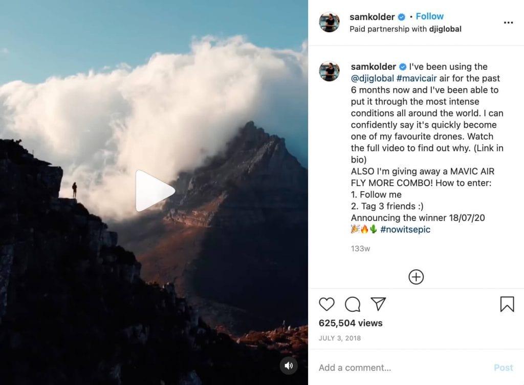 Sam Kolder Instagram Video
