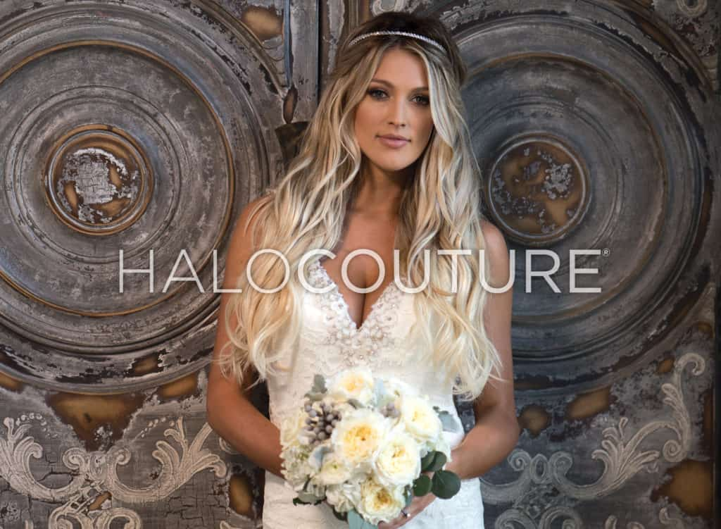 Bridal Halocouture hair extensions tulsa ok
