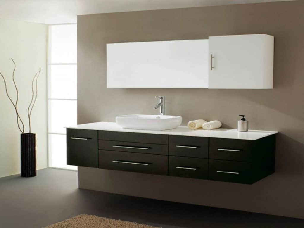 Virtu USA Justine 59 Single Sink Bathroom Vanity in Espresso - Vanity Top Included