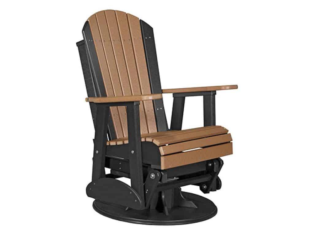 Furniture Barn USA Outdoor Adirondack Swivel Glider Chair