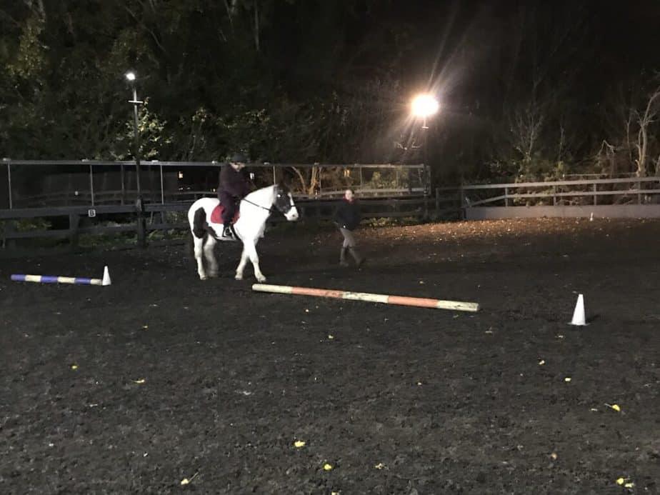Lynne Said horseback riding