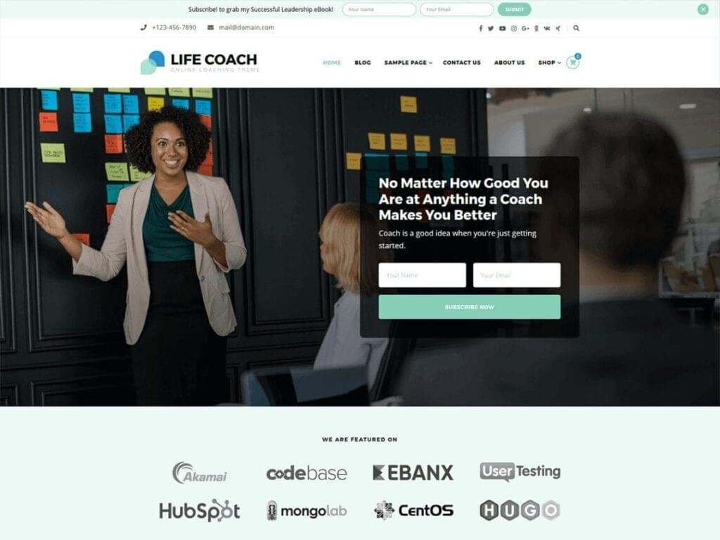 Best Free Coaching WordPress Themes for Life Coaches