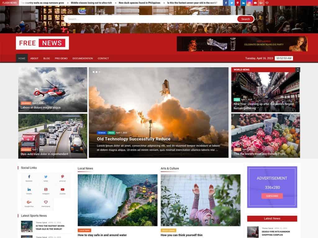 free news theme